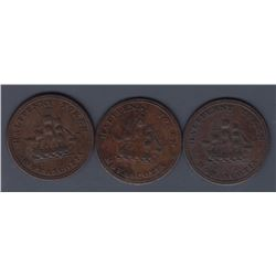 NOVA SCOTIA MERCHANT TOKENS - Co. 338 & 340.  Br 884 & 885.