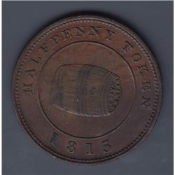 NOVA SCOTIA MERCHANT TOKENS - Co. 341.  Br 890. Miles W. White halfpenny.