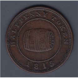 NOVA SCOTIA MERCHANT TOKENS - Co. 341a.  Br 890.  Rotated dies. Miles W. White halfpenny.