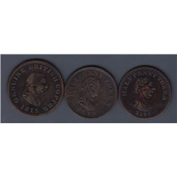 NOVA SCOTIA MERCHANT TOKENS - A trio: Co. 346, 347, 348.