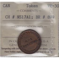NOVA SCOTIA MERCHANT TOKENS - Co. 362. Br 899.  White's Farthing.