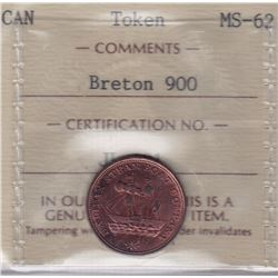 NOVA SCOTIA MERCHANT TOKENS - Co. 364.  Br 900.  Halifax Steamboat Token
