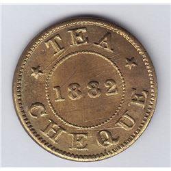 NOVA SCOTIA MERCHANT TOKENS - Br 902.  Gass' Tea cheque.