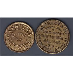 NOVA SCOTIA MERCHANT TOKENS - Br 901 and 902.
