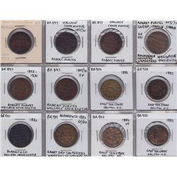 NOVA SCOTIA MERCHANT TOKENS - Lot of 12 merchant tokens.