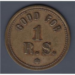 NOVA SCOTIA MERCHANT TOKENS - Br 903.  Richard Shepherd's token.