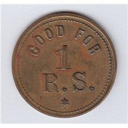 NOVA SCOTIA MERCHANT TOKENS - Br 903.  Richard Shepherd's token.