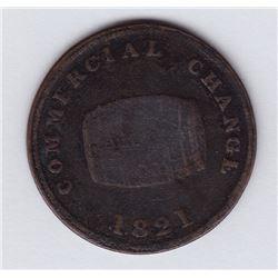 TOKEN OF UPPER CANADA - Br 729.  McL. 18.  Jamaica cask.