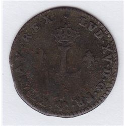 Br 508. Billon Double Sol of 24 Deniers. 1742 G. (Poitiers).