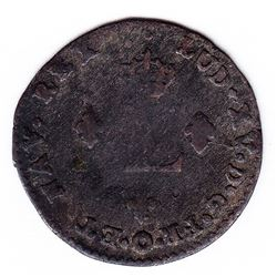 Br 508. Billon Double Sol of 24 Deniers. 1740 K. (Bordeaux).