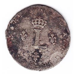 Br 508. Billon Double Sol of 24 Deniers. 1739 X. (Amiens).