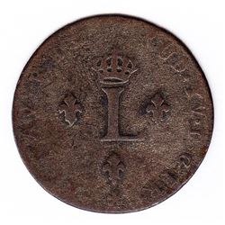Br 508. Billon Double Sol of 24 Deniers. 1738 AA. (Metz).