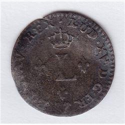 Br 509. Billon Sol of 12 Deniers. 1740 G. (Poitiers).