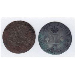 Br 509. Billon Sol of 12 Deniers. 1740 W. (Lille).