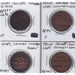 Prince Edward Island Breton Tokens Lot of 4