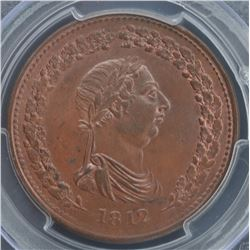 Lower Canada One Penny Token, 1812