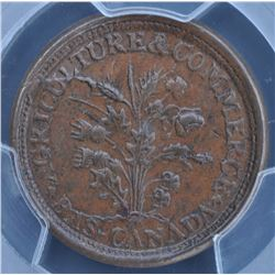 Lower Canada ½  Penny Token