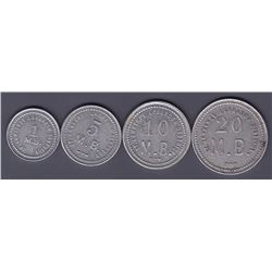 Fur Trade Tokens - 1919 - 1941 Hudson Bay Company St. Lawrence Labrador Set of 4