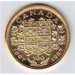 Canadian Medal - Private Issue Centennial Gold Medal, 1967.