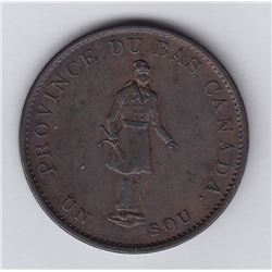 Br 522. City Bank ½ penny, 1837.