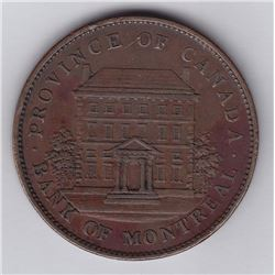 Br 526. C. 88. Bank of Montreal penny, 1837.
