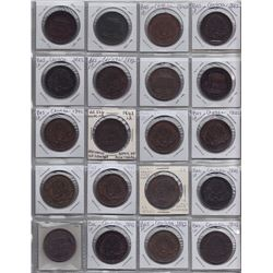 Br 526. Collection of 110 specimens of the Bank of Montreal penny, 1842.