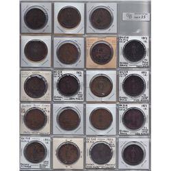 Br 528. Quebec Bank pennies, 1852.