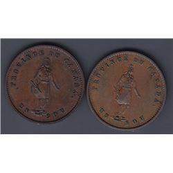 Br 529. Quebec Bank ½ penny, 1852.