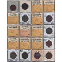 Br 529. Quebec Bank ½ pennies, 1852.