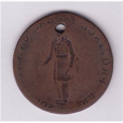 Br 522. Obverse brockage of a Habitant ½ penny, (1837).
