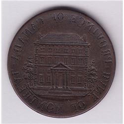Br 527. Obverse brockage of a Province of Canada Bank of Montreal ½ penny.