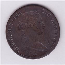 Obverse brockage of a Nova Scotia or New Brunswick cent (1861, 62, 64)