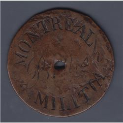Montreal Militia button, Similar to last lot