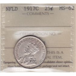 1917 Newfoundland Twenty-Five Cents
