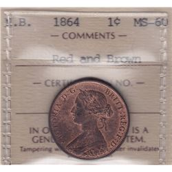 1864 New Brunswick One Cent