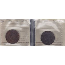 1871 PEI One Cent & 1897 Canadian Large Cent