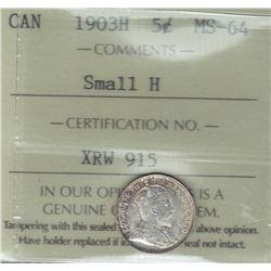 1903H Five Cents