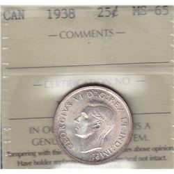 1938 Twenty Five Cents