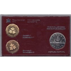 1985 Royal Canadian Mint One Dollar Test set