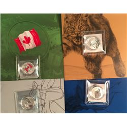 Lot of Four RCM $20/$20 & $25/$25 Coins