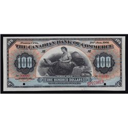 Canadian Bank of Commerce $100, 1901 - Specimen