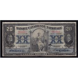 Banque Canadienne Nationale $20, 1929