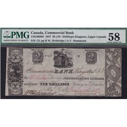 Commercial Bank Ten Shillings, 1837