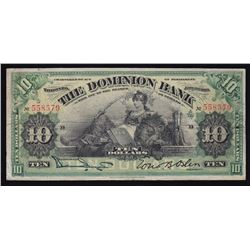 Dominion Bank of Canada $10, 1910