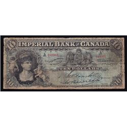 Imperial Bank of Canada $10, 1907