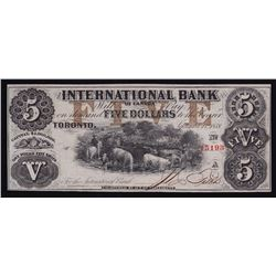 International Bank of Canada $5, 1858