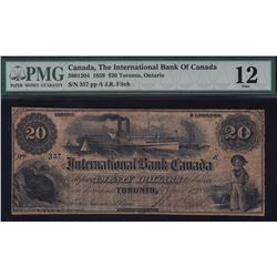 International Bank of Canada $20, 1859