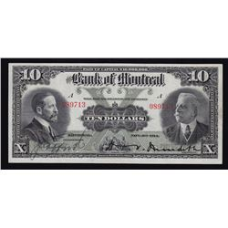 Bank of Montreal $10, 1914