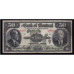 Bank of Montreal $50, 1923
