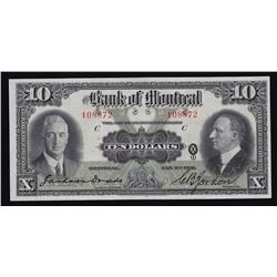 Bank of Montreal $10, 1931